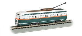 Bachmann PCC Streetcar w/DCC, Sound & Sparking Trolley Pole Chicago (green, white, red)