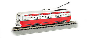 Bachmann PCC Streetcar w/DCC, Sound & Sparking Trolley Pole Pittsburgh/Allegheny Tranist (red, white)