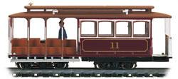 Bachmann Cable Car Red #11 -- HO Scale Trolley and Hand Car -- #60530