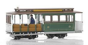 Bachmann Cable Car Green #3 HO Scale Trolley and Hand Car #60531