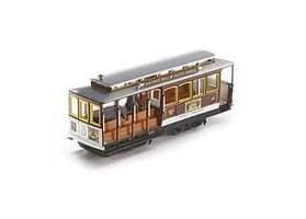Bachmann Cable Car Yellow/Brown w/Advertising HO Scale Trolley and Hand Car #60534