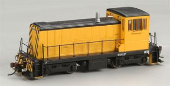Bachmann GE 70-Tonner Painted, Unlettered (yellow, black) HO Scale Model Train Diesel Locomotive #60607