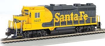 Bachmann GP30 Diesel Santa Fe #3227 -- HO Scale Model Train Diesel Locomotive -- #60817