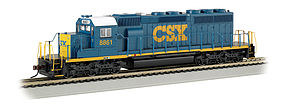 Bachmann SD40-2 w/DCC CSX #8861 (Dark Future) HO Scale Model Train Diesel Locomotive #60910
