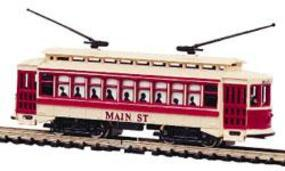 Bachmann Lighted Brill Trolley Main Street N Scale Trolley and Hand Car #61090