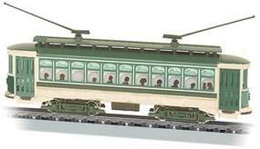 Bachmann Brill Trolley - Standard DC - Green, Cream, Brown N Scale Trolley and Hand Car #61093