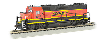 Bachmann GP38-2 BNSF #2344 with DCC HO Scale Model Train Diesel Locomotive #61118