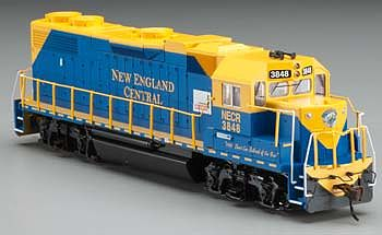 Bachmann GP38-2 New England Central #3848 -- HO Scale Model Train Diesel Locomotive -- #61711