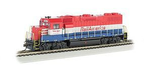 Bachmann GP38-2 Railamerica #3821 HO Scale Model Train Diesel Locomotive #61718