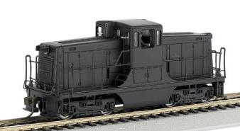 Bachmann GE 44T Switcher Painted Unlettered Yellow/Black -- HO Scale Model Train Diesel Locomotive -- #62202