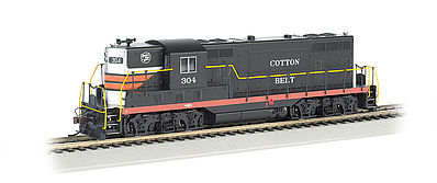 Bachmann GP7 Cotton Belt #304 (Black Widow) with DCC HO Scale Model Train Diesel Locomotive #62417