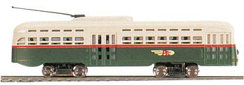 Bachmann Lighted Streamline Trolley PTC -- N Scale Trolley and Hand Car -- #62995