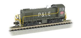 Bachmann S4 DCC NYC System P&LE #8662 N Scale Model Train Diesel Locomotive #63153
