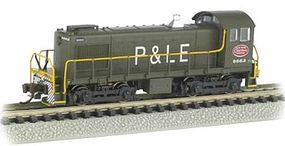Bachmann S4 DCC ATSF #1528 Zebra Stripe N Scale Model Train Diesel Locomotive #63154