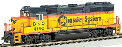 Bachmann EMD GP40 Chessie #4150 -- HO Scale Model Train Diesel Locomotive -- #63525