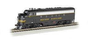 Bachmann F7 A DCC Western Maryland (Speed Letternig) HO Scale Model Train Diesel Locomotive #63706