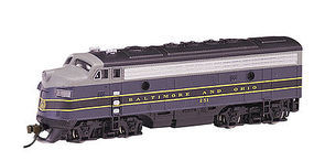 Bachmann EMD F7-A w/DCC B&O (Blue/Gray/Black) N Scale Model Train Diesel Locomotive #63751