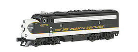 Bachmann EMD F7-A w/DCC Norfolk Southern (Black/Gray) N Scale Model Train Diesel Locomotive #63753