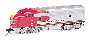 Bachmann EMD F7A DCC Equipped Santa Fe War Bonnet N Scale Model Train Diesel Locomotive #63755