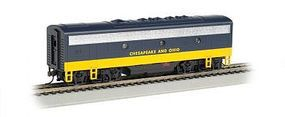 Bachmann F7 B DCC Chesapeake & Ohio HO Scale Model Train Diesel Locomotive #63808