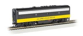 Bachmann F7 B DCC Alaska (Black/Yellow) HO Scale Model Train Diesel Locomotive #63810