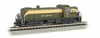 Bachmann RS3 Seaboard #1633 with DCC -- N Scale Model Train Diesel Locomotive -- #64258