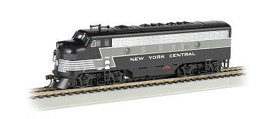 Bachmann F7 A DCC Sound NYC (Lightning Stripe) -- HO Scale Model Train Diesel Locomotive -- #64302