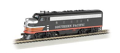 Bachmann F7 A DCC Sound Southern Pacific (Black Widow) -- HO Scale Model Train Steam Locomotive -- #64304