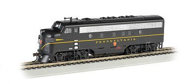 Bachmann F7 A DCC Sound Pennsylvania (Single Stripe) HO Scale Model Train Diesel Locomotive #64305