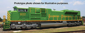 Bachmann SD70ACe with Sound Illinois Terminal #1072 HO Scale Model Train Diesel Locomotive #66006