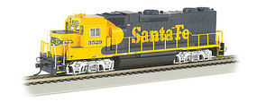 Bachmann EMD GP38-2 ATSF #3529 with Sound HO Scale Model Train Diesel Locomotive #66801