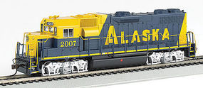 Bachmann GP38-2 DCC with Sound Alaska RR #2007 HO Scale Model Train Diesel Locomotive #66804