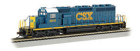 Bachmann EMD SD40 without Sound CSX #8840 HO Scale Model Train Diesel Locomotive #67024