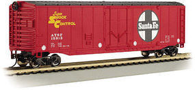 Bachmann 50 Plug Door Boxcar - Ready to Run - Santa Fe N Scale Model Train Freight Car #71052