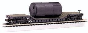 Bachmann 52' Flatcar w/Boiler N Scale Model Train Freight Car #71395
