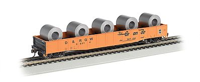 Bachmann ACF 50' 6'' Drop-End Gondola D&RGW -- HO Scale Model Train Freight Car -#71903