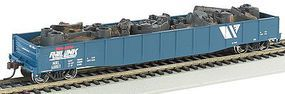 Bachmann 50.6 Gondola w/Scrap Load MRL #40013 HO Scale Model Train Freight Car #71905