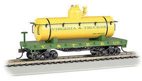Bachmann Virginia & Truckee Old-Time Tank Car HO Scale Model Train Freight Car #72104