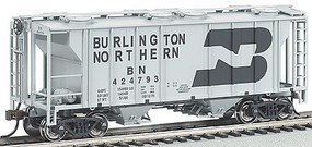PS2 2-Bay Covered Hopper Burlington Northern HO Scale Model Train Freight Car #73502