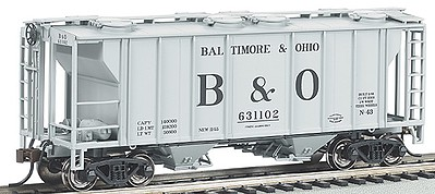 Bachmann PS-2 2-Bay Covered Hopper Baltimore & Ohio -- HO Scale Model Train Freight Car -- #73503