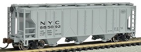 Bachmann PS2 3-Bay Covered Hopper NYC N Scale Model Train Freight Car #73856