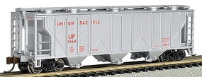 Bachmann PS2 3-Bay Covered Hopper UP N Scale Model Train Freight Car #73857