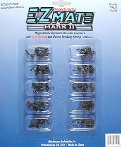 Bachmann E-Z Mate II Coupler Center Shank Medium (25) HO Scale Model Train Coupler #78125