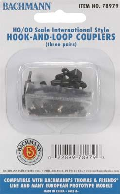 Bachmann Thomas Hook & Loop Couplers (6) HO Scale Model Train Coupler #78979