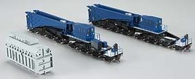 Bachmann Spectrum 380-Ton Schnabel Car Blue/Black HO Scale Model Train Freight Car #80501