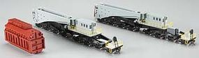 Spectrum 380-Ton Schnabel Car Gray/Black HO Scale Model Train Freight Car #80502