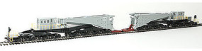 Schnabel Car w/Retort/Cylinder Load Gray/Black HO Scale Model Train Freight Car #80512