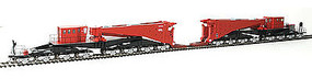 Schnabel Car w/Retort/Cylinder Load Red/Black HO Scale Model Train Freight Car #80513