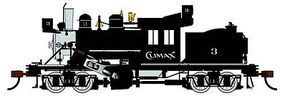 Bachmann 50 Ton Two-Truck DCC Climax Demonstrator HO Scale Model Train Steam Locomotive #80603