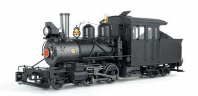 Bachmann Baldwin 2-4-4 Forney Painted, Unlettered (Inside Frame) -- G Scale Model Train Steam Loco -- #80999
